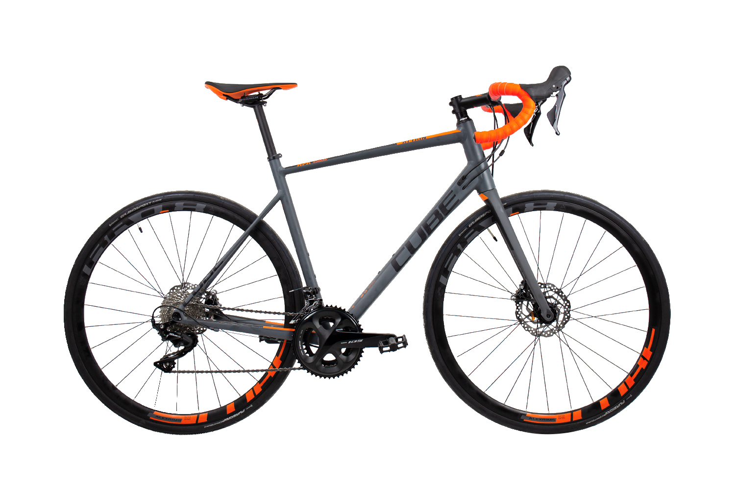 Cube Attain SL Disc - 28 - grey´n´orange 58 cm