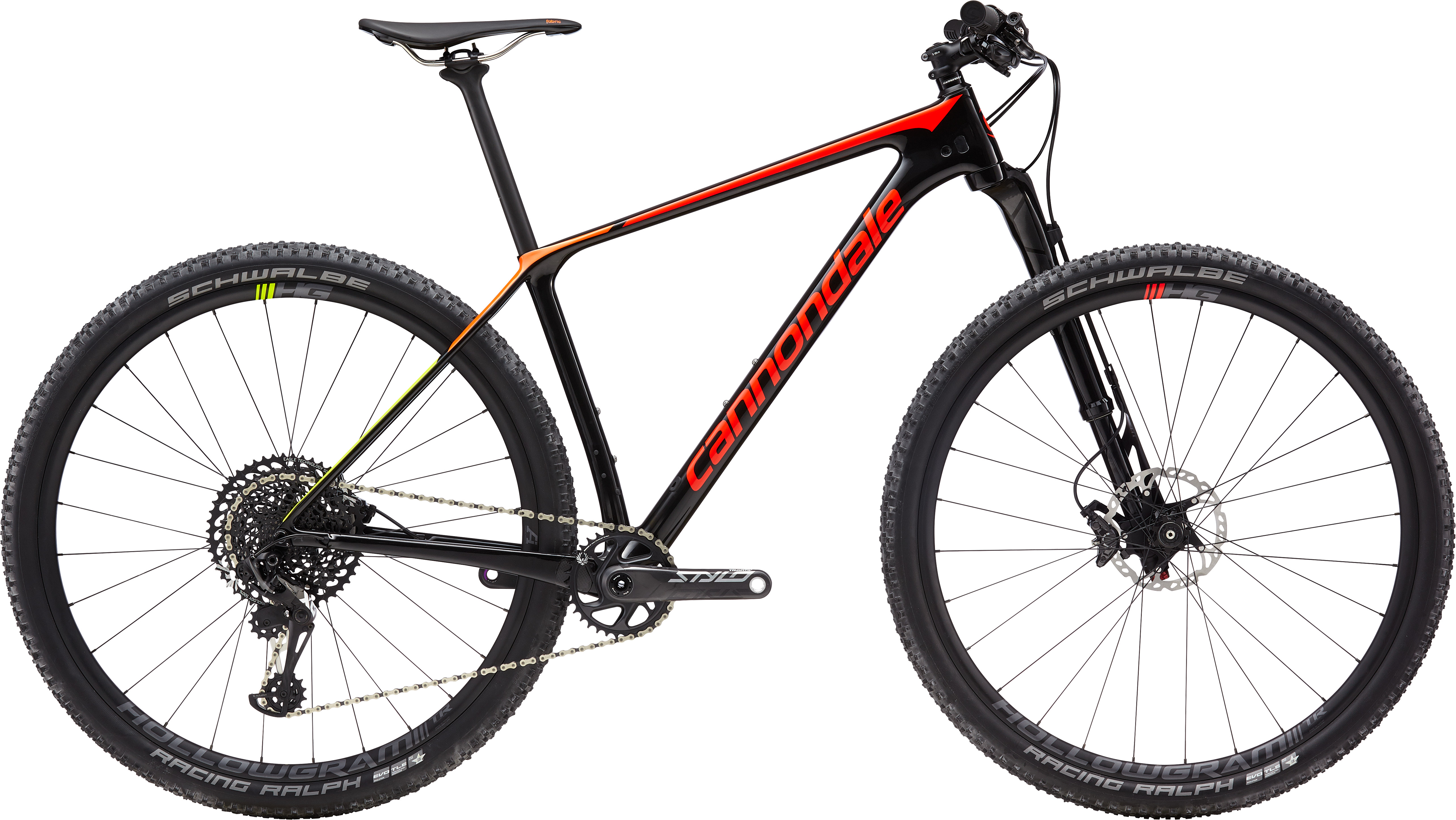 Cannondale F-Si Crb 2 BPL Black Pearl w/ Acid Red, Tangerine and Volt - Glos 2019 - HE 29 -  M