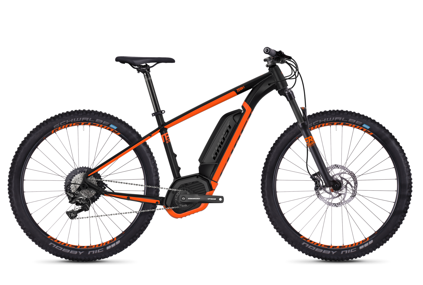 GHOST Hybride Teru B5.7+ AL - Uni 27.5 - Night black NEONORANGE - XL