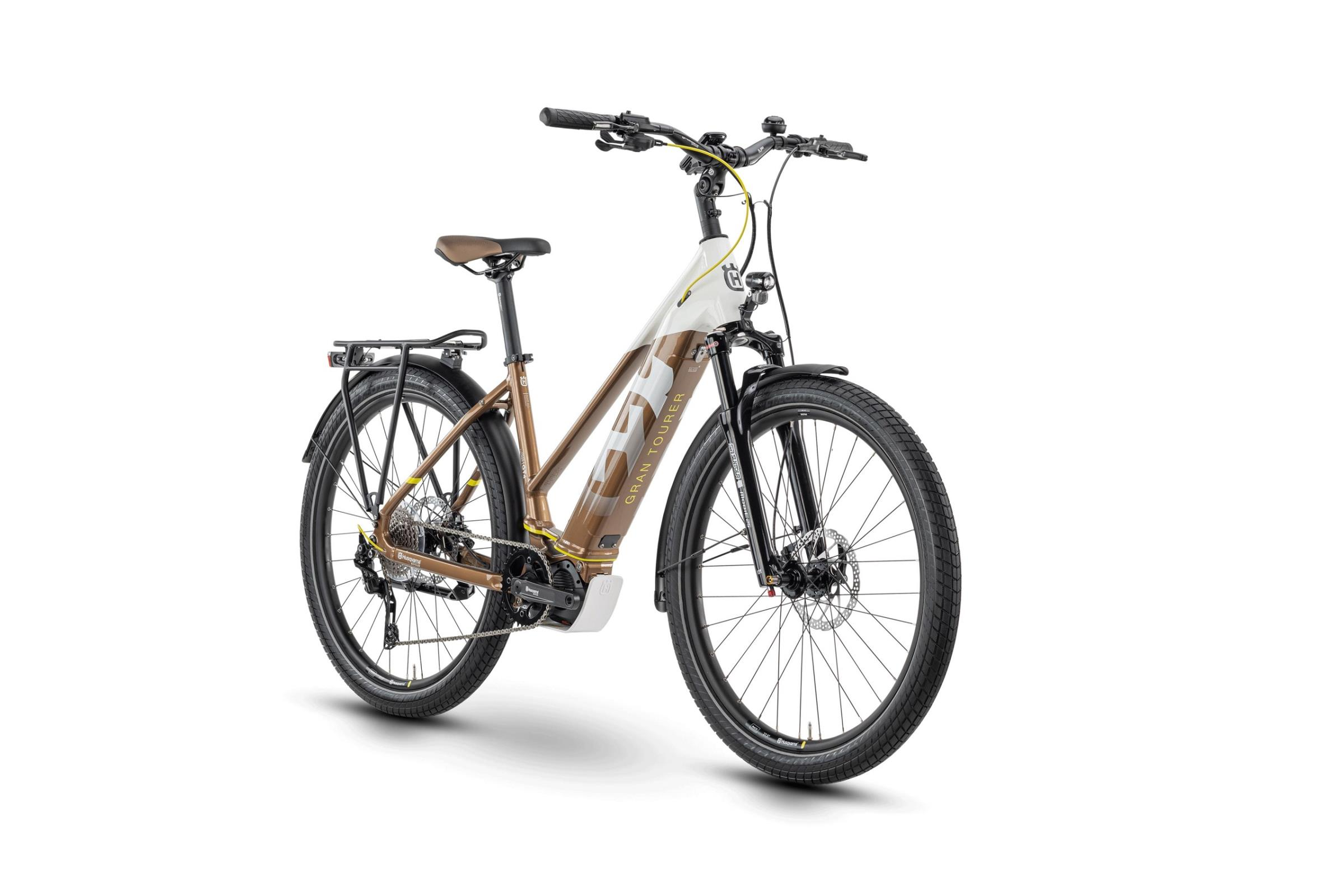 Husqvarna Gran Tourer 4 White / Bronze / Yellow 2020 - Trapez 27,5 -  45 cm