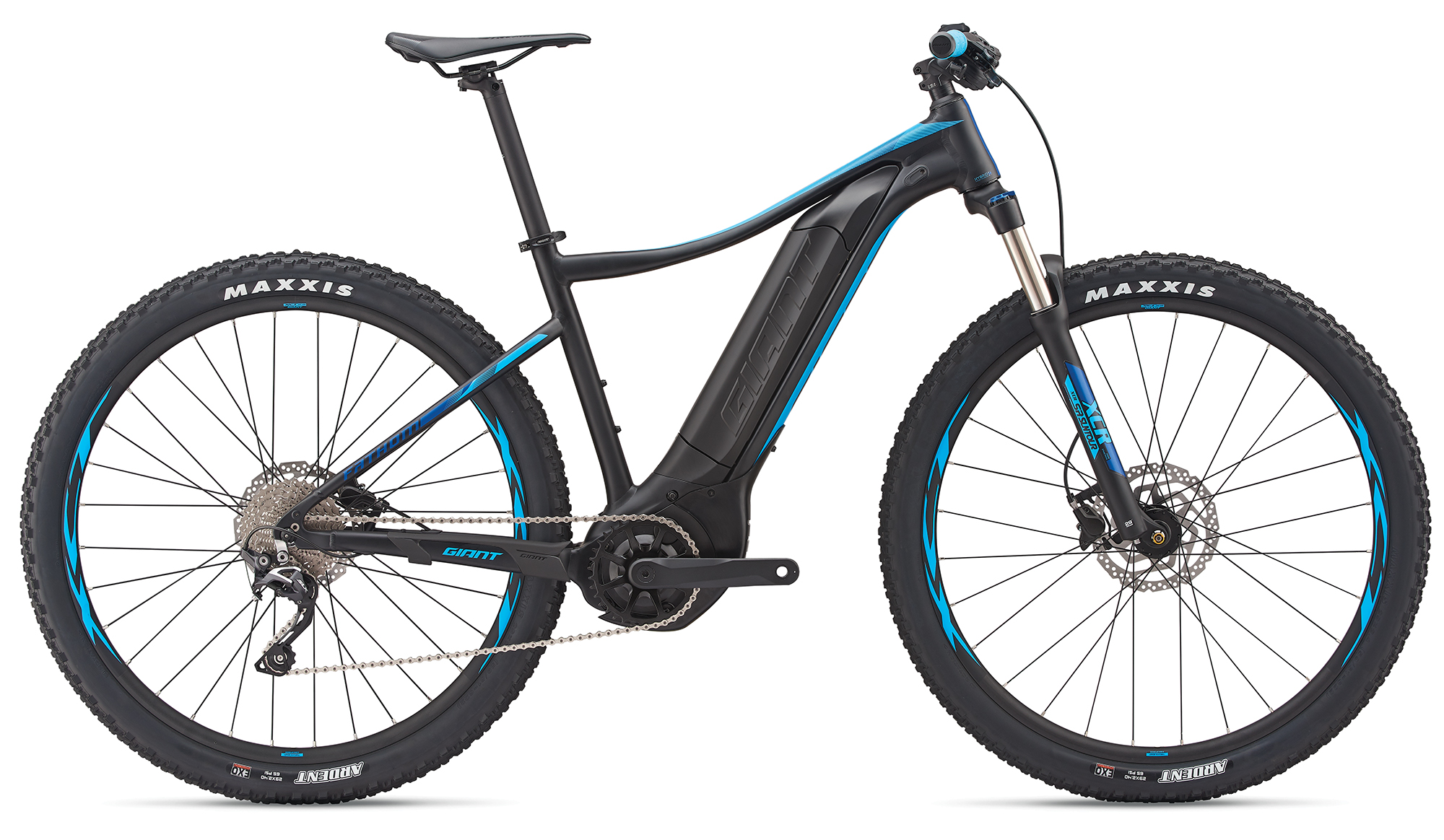Giant Fathom E+ 2 29er Black-Blue Matt 2019 - 500 -  S