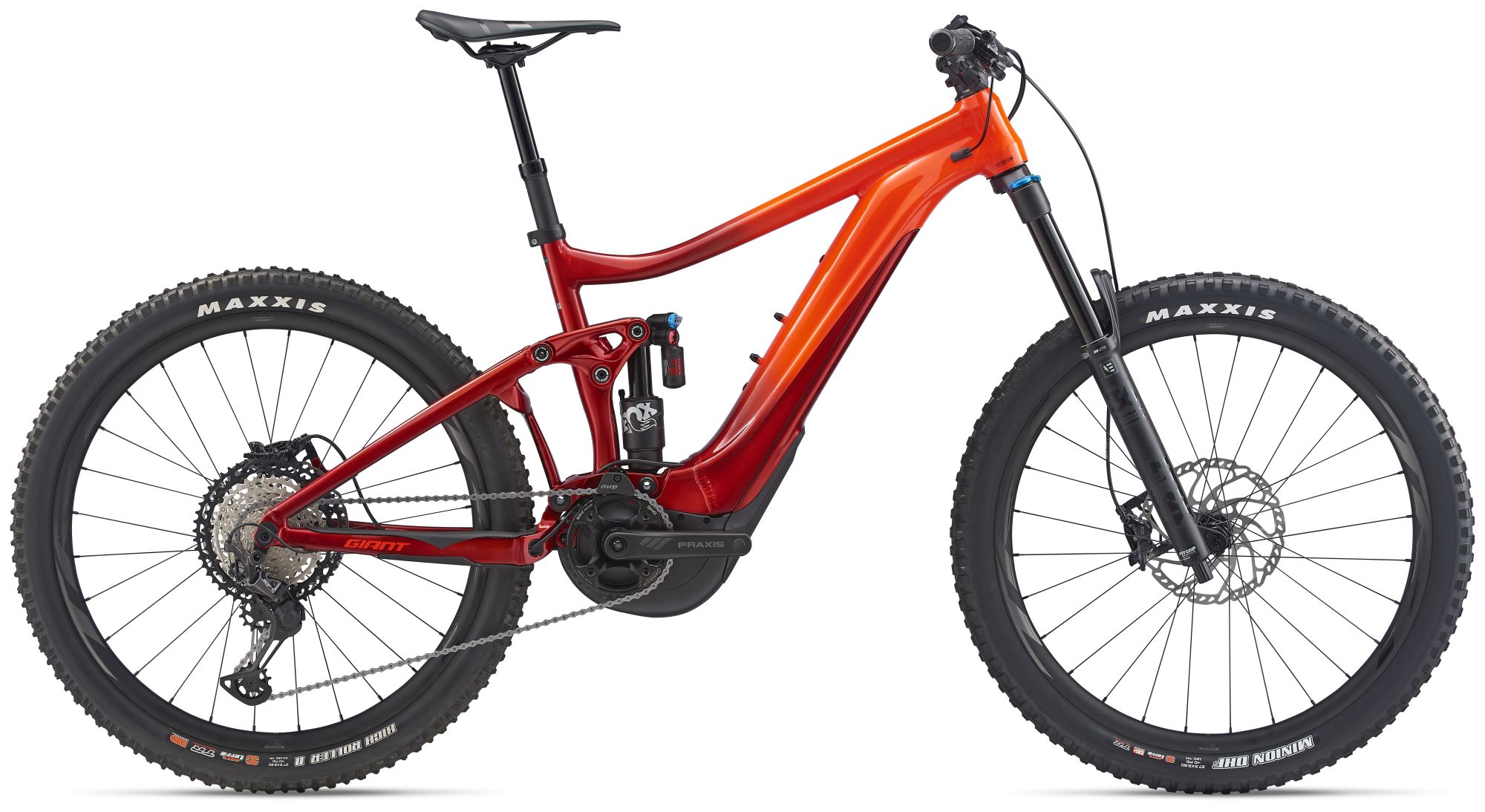 Giant REIGN E+ 1 (2020) Neon Red / Metallic Red  2021 - 625Wh 27,5