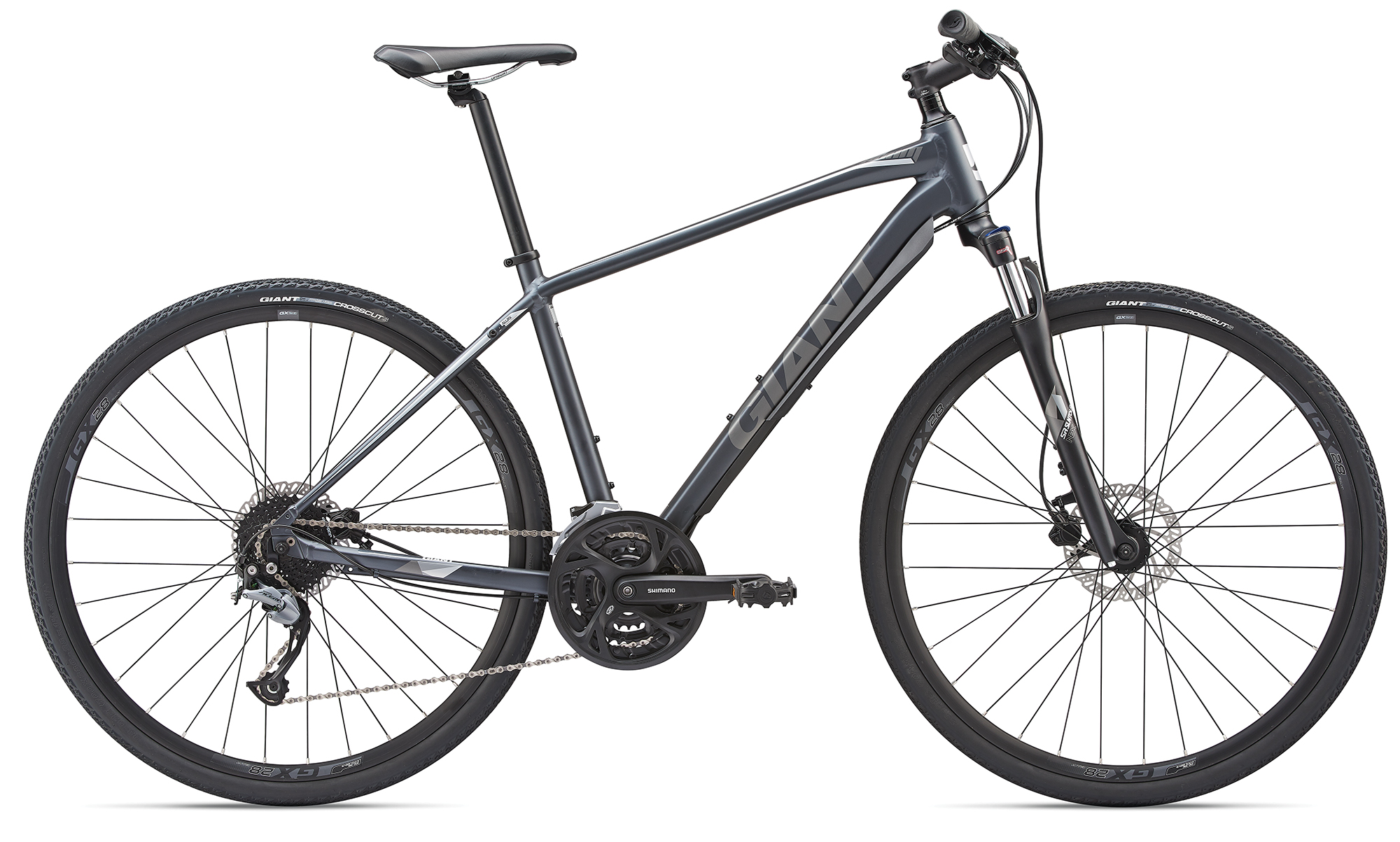 Giant Roam 2 Charcoalgrey-Chrome Matt 2019 M