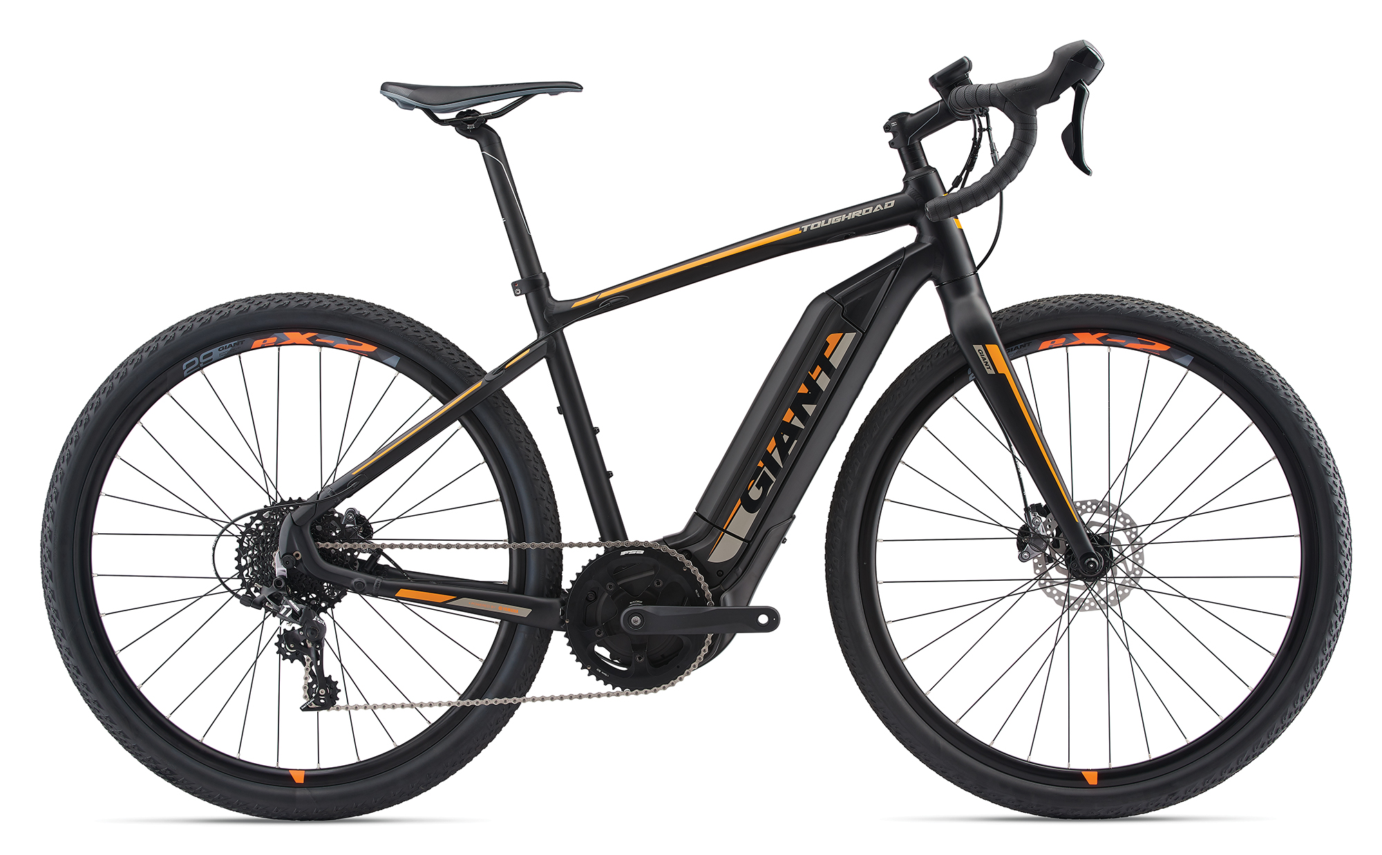 Giant ToughRoad E+ GX Black-Neonorange-Grey Matt-Gloss 2019 - 500 -  L