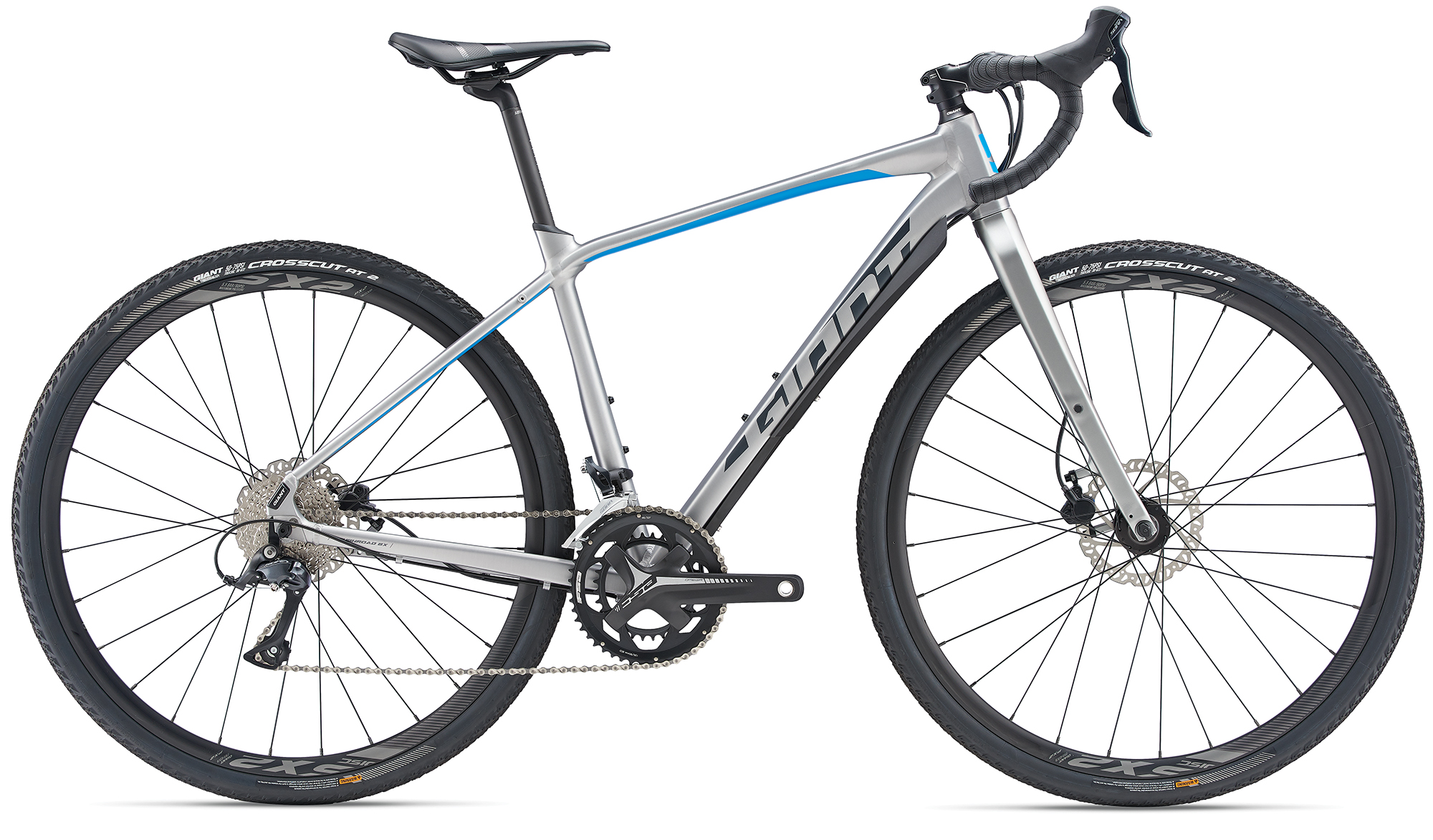 Giant ToughRoad SLR GX 2 BrushAluminium-Blue-Grey Matt 2019 ML
