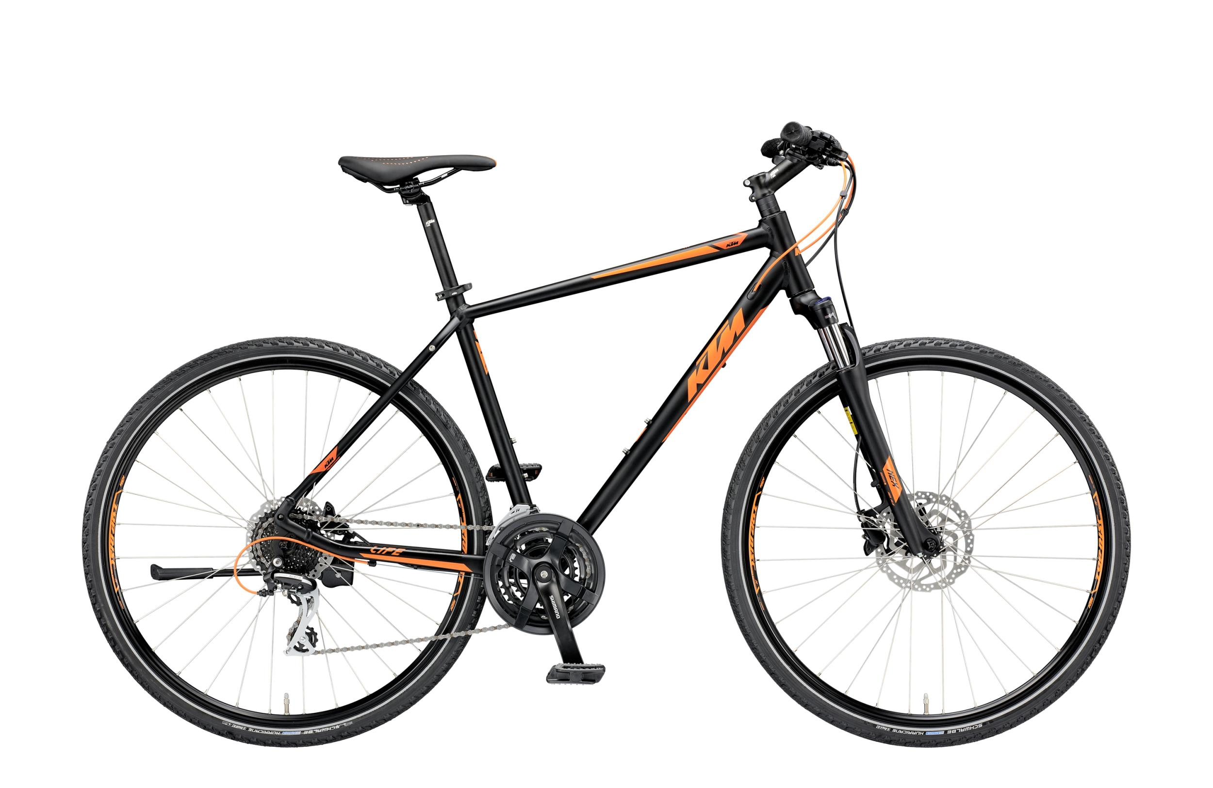 KTM LIFE TRACK 24 Disc - Disc HE 28 - black matt (orange) 51 cm