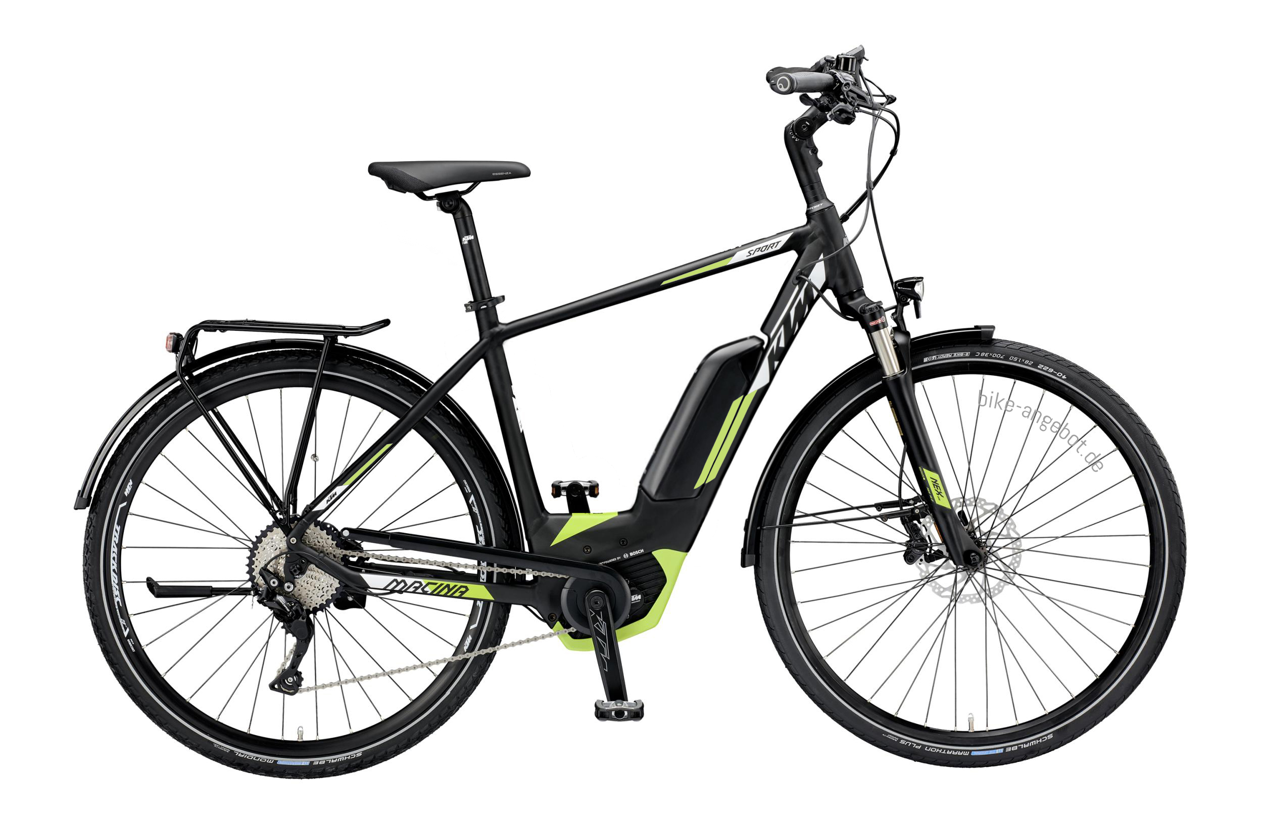 KTM MACINA SPORT 10 CX5 black matt (white green) 2019 - HE 28 -  56 cm