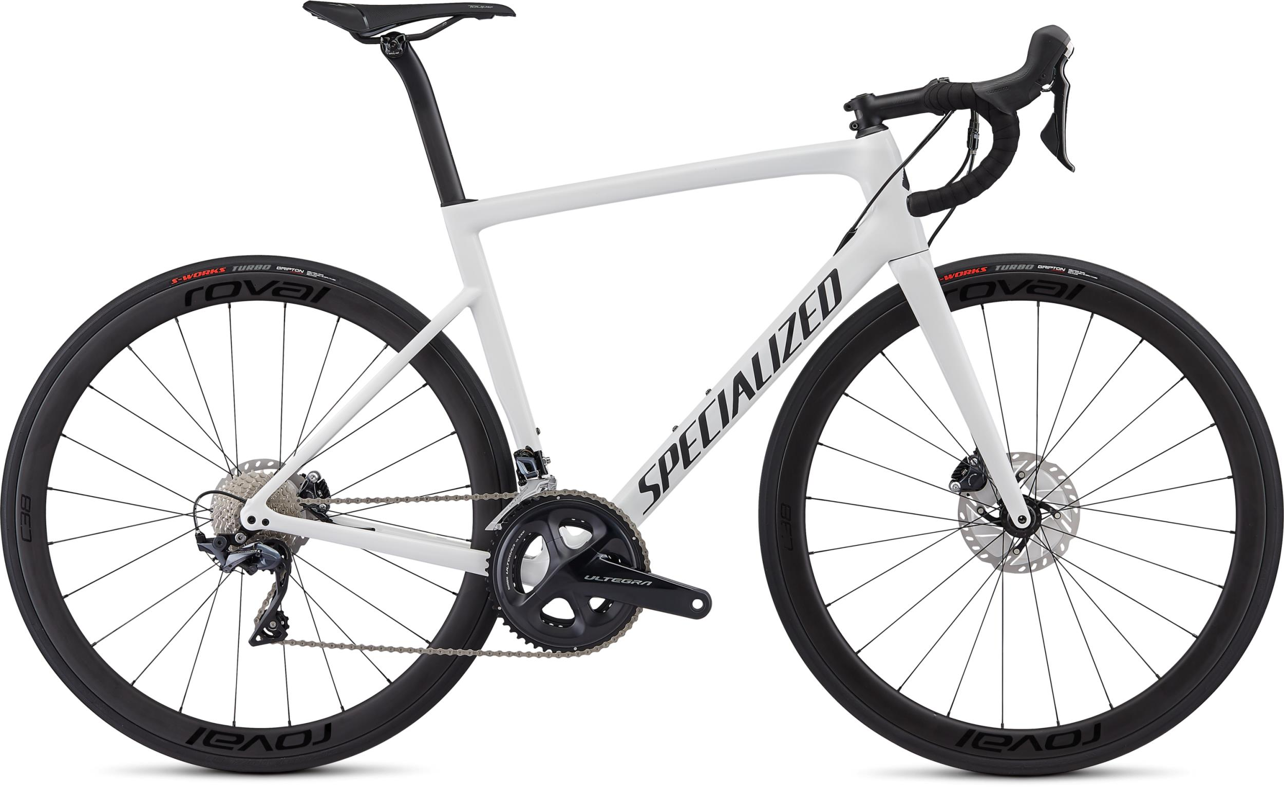 Specialized Men's Tarmac Disc Expert White/Blue Ghost Pearl/Satin Black/Clean 2019 - 28 -  54 cm