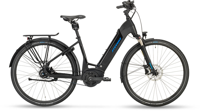 Stevens E-Courier Luxe Stealth Black 2019 - Forma 500Wh -  46 cm