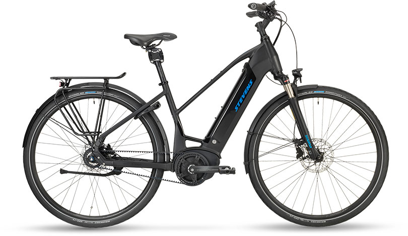 Stevens E-Courier Luxe Stealth Black 2019 - Lady 500Wh -  46 cm