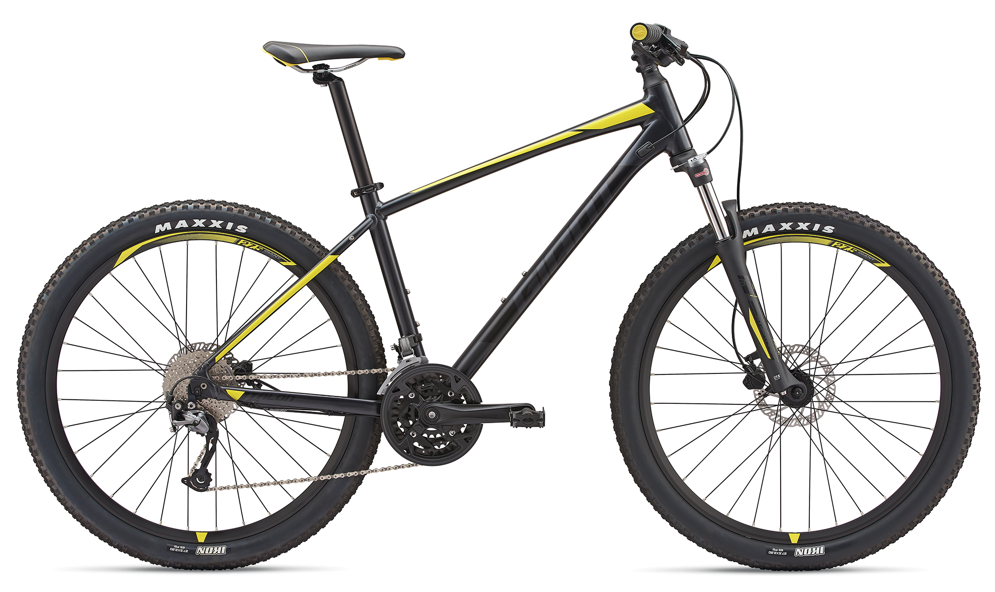 Giant Talon 3 Metallicblack-Lemonyellow Matt 2019 L