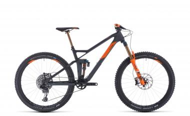 Cube Stereo 140 HPC TM 27.5 - Diamant -  grey´n´orange 2020