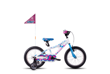 GHOST Powerkid AL 16 Star white / Riot blue / Dark Fuchsia pink 2017