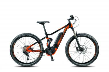 KTM MACINA LYCAN 275 black matt (orange blue) 2018