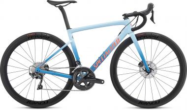 Specialized Women's Tarmac Disc Expert - 28 -  Gloss Storm Grey/Ice Blue/Acid Lava 2019
