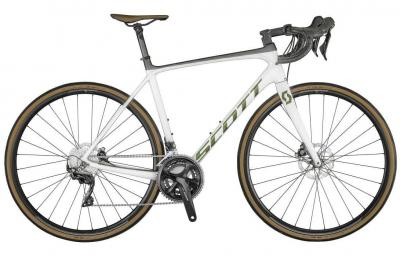 Scott Addict 20 Disc pearl white / prism komodo 2021