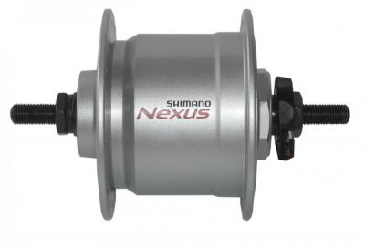 VR-Nabendynamo Shimano DHC3000 100mm 36 Loch silber Vollachse Auswahl