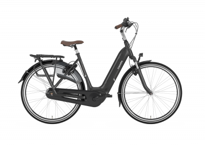 Gazelle Arroyo C7+ HMB Elite, Damen, 500WH, Black Matt, Rücktritt