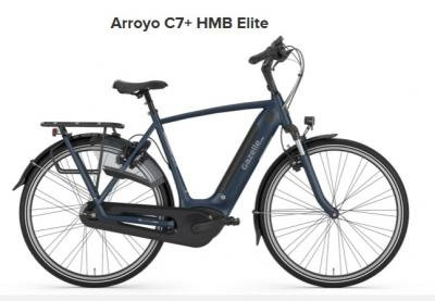Gazelle Arroyo C7+ HMB Elite, Herren, 500Wh, navy matt