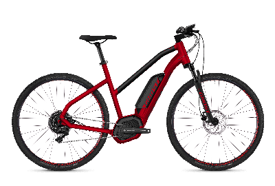 GHOST Hybride SQUARE Cross B4.9 AL W Riot red NIGHTBLACK - 2018 - Damen 29 -