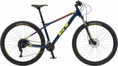 GT Avalanche Elite Gloss Deep Navy w/ Neon Yellow & Neon Red 2018 - 27.5 -