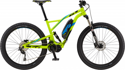 GT eVerb Current Gloss Neon Yellow w/ Black & Cyan 2018 - 27.5 -