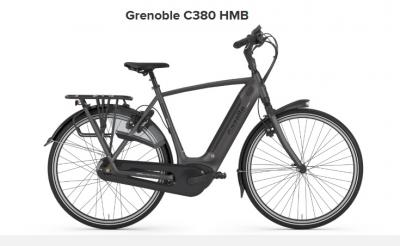 Gazelle Grenoble C380 HMB, 500Wh Akku, Herren, eclipse black matt