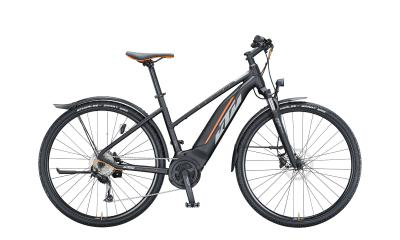 KTM MACINA CROSS P510 Street Black Matt ( Grey Orange )  2021 - 500Wh 28