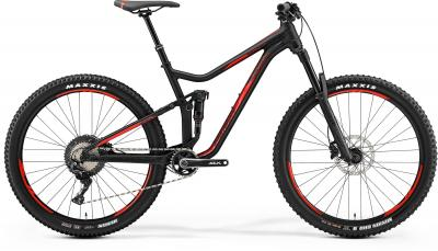 Merida ONE-FORTY 700 - 27.5 -  MATT BLACK(SHINY RED) 2019