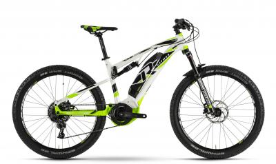 Raymon E-Seven FullRay 7.0 - MTB Full Suspension 27,5 -  white/black/green 2019