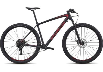 Specialized Men's Epic Hardtail Comp Satin Black/Flo Red 2018