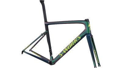 Specialized Men's S-Works Tarmac Frameset Chameleon Green/Satin Cast Blue/Black/Team Yellow 2018