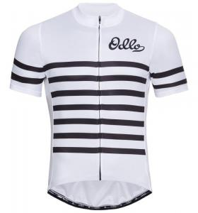 ODLO Stand-up collar s/s full zip ESSENTIAL white - black M Auswahl