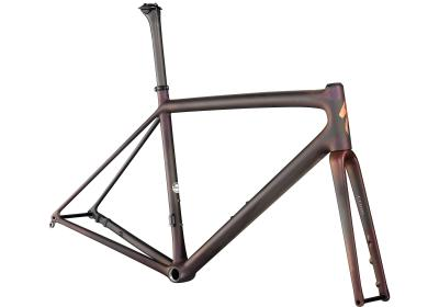 Specialized S-Works Aethos Frameset Satin Carbon/Red Gold Chameleon/Bronze Foil 2021 - Diamant -