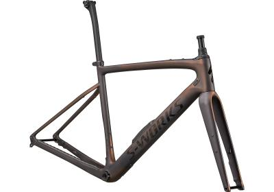 Specialized S-Works Diverge Frameset Satin Carbon/Color Run Pearl/Chrome/Clean 2021 - Diamant -