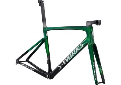 Specialized S-Works Tarmac SL7 Frameset Green Tint Fade over Spectraflair/Chrome 2021 - Diamant -