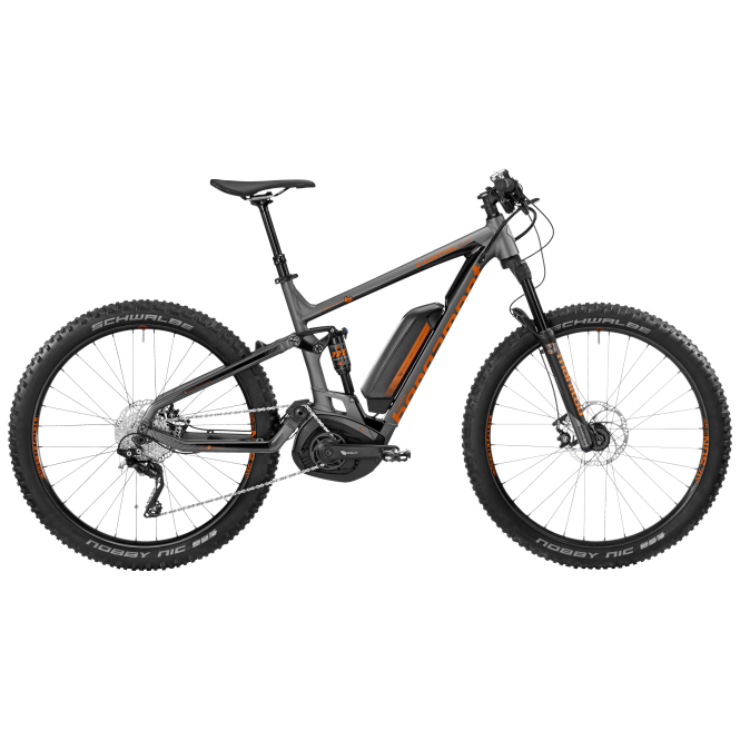 Bergamont E-Contrail 6.0 Plus dark silver/orange (matt/shiny) 2017 - Gent -