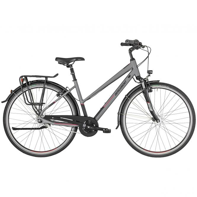 Bergamont Horizon N7 CB Lady grey/black/red (matt) 2019