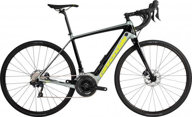 Cannondale Synapse Neo Al 2 SGG Jet Black w/ Sage Gray and Volt - Gloss 2019 - HE 28 -