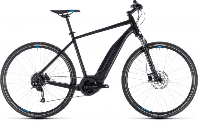 Cube Cross Hybrid ONE 500 black´n´blue 2018