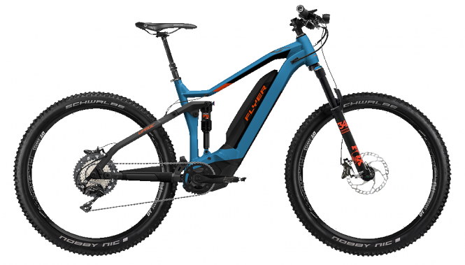 Flyer Uproc4 6.30 - Full Suspension 27,5 -  Jeans Blue / Magma Red 2019