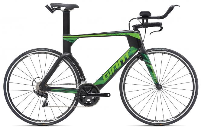 Giant Trinity Advanced Carbonblack-Green Matt 2019