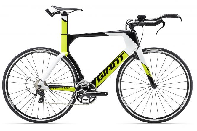 Giant Trinity Advanced Carbonblack-Limeyellow/White 2017
