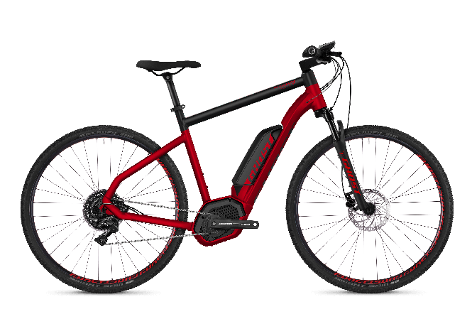 GHOST Hybride SQUARE Cross B4.9 AL Riot red NIGHTBLACK - 2018