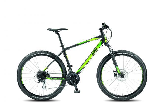 KTM CHICAGO 27.24 DISC H black matt (green) 2018