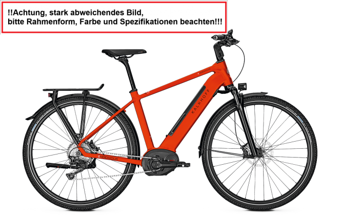 Kalkhoff ENDEAVOUR EXCITE B11 - 28 Wave Freilauf 500 -  firered glossy 2018