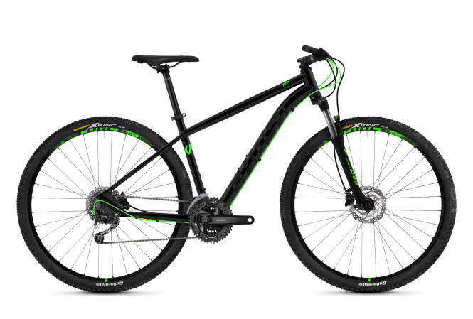 GHOST Kato 4.9 AL Night black NIGHTBLACK Neon green 2018 - Uni 29 -