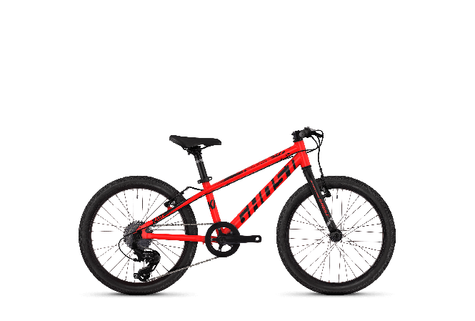 GHOST Kato R1.0 AL - Jungen 20 - Neon red NIGHTBLACK -
