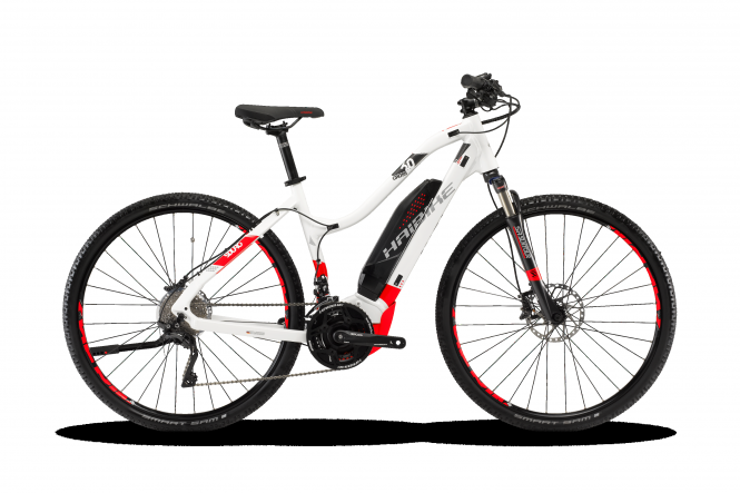 Haibike SDURO Cross 6.0 Damen Weiß/Rot/Anthrazit 2018