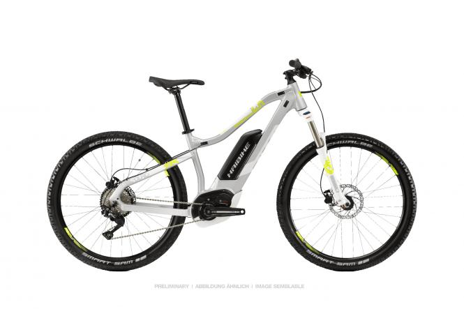 Haibike SDURO HardSeven Life 4.0 Silber/Lime/Weiß 2019 - MTB Hardtail 27,5 -